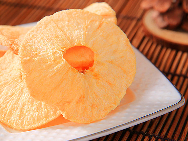 苹果干脱水苹果粒无糖水分低红富士苹果烤制500克包邮